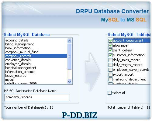 Windows 7 MySQL DB To MS SQL Migrator 2.0.1.5 full